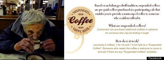Suspended Coffee: Caffeine Based Acts Of Kindness That Are Warming Hearts Across The