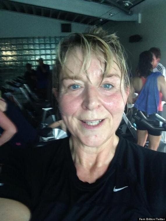 Fern Britton Goes Make Up Free In Post-Gym Twitter