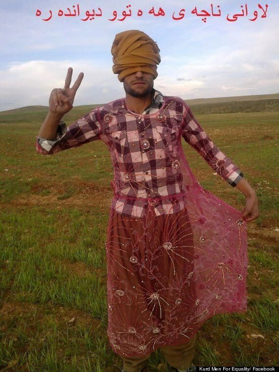 Kurdish Men Cross-Dress In Facebook Campaign To Champion Women's Rights In Iran