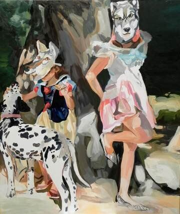 Picasso, Her Dalmatian, as a Muse for the Next