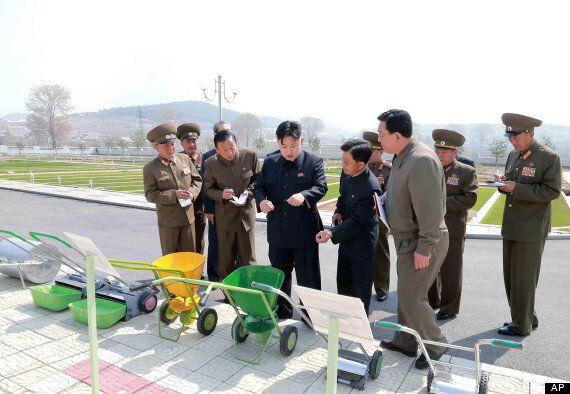 Kim Jong-Un Visits Turf Institute In Pyonyang, North Korea