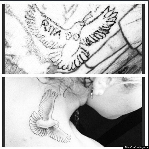 Rita Ora Unveils New Bird Tattoo Then Gives Artist Matching Ink