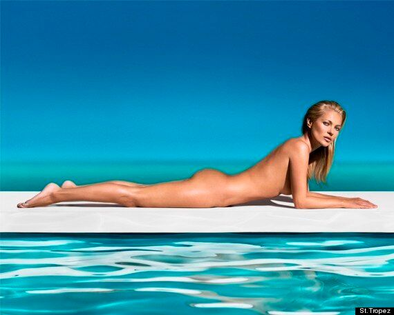Kate Moss Naked: Model Poses In The Nude For St.Tropez Tan