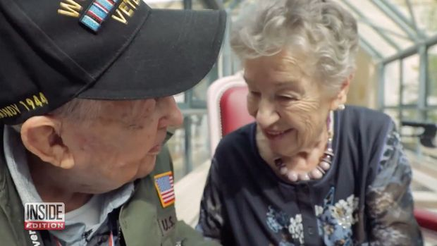 WWII veteran KT Robbins reunited with the woman he loved in France 75 years ago.