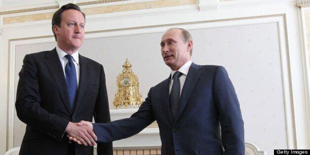 David Cameron meets Vladimir Putin for talks on