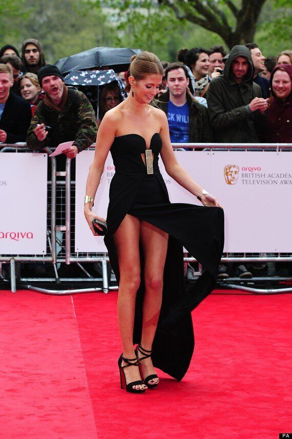 BAFTA 2013: Made In Chelsea's Millie Mackintosh Narrowly Escapes Wardrobe Malfunction