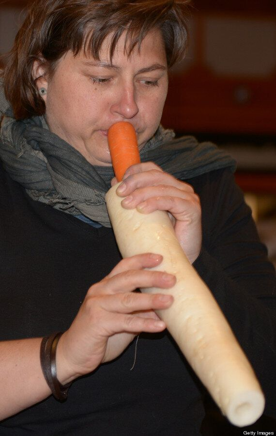 Penis-Shaped Musical Instruments Carved Out Of Vegetables By Vienna Orchestra