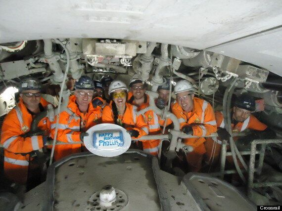 Crossrail Workers Celebrate A Year Of Tunnelling On London Transport