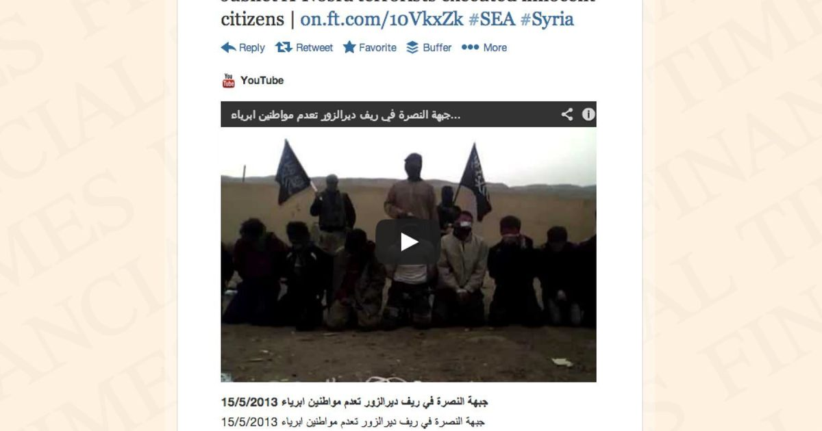 Syrian Electronic Army Hacks Financial Times' Tech Blog And Twitter