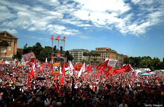 Rome Austerity Protesters Take To Streets Over High Unemployment