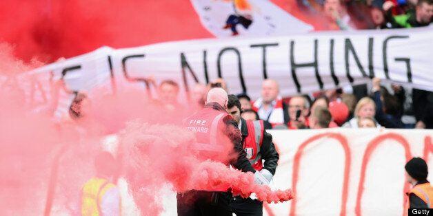 Liverpool fans bring some colour to Craven