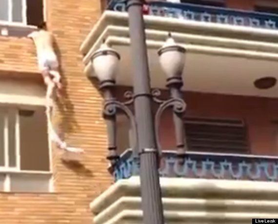 Husband Catches Wife Cheating - As Her Half-Naked Lover Climbs Out Of Window