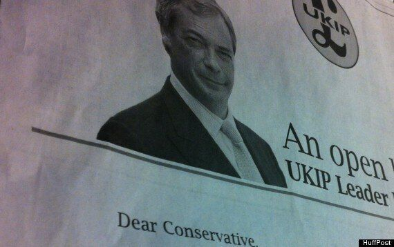 Ukip's Nigel Farage Attempts To Woo Discontented Tories In £46,000 Daily Telegraph