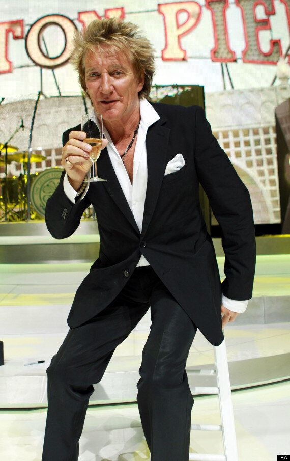 Rod Stewart 'Over The Moon' At Album 'Time' Topping The Album Chart - His First Number One For 34