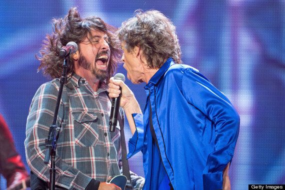 Dave Grohl Joins The Rolling Stones On Stage In California, Performs 'B*tch' With Mick Jagger