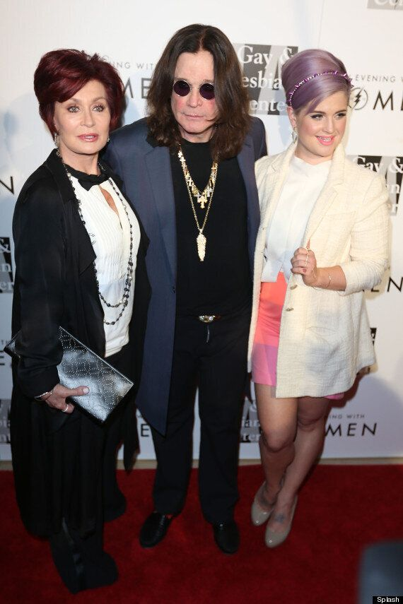 Sharon And Ozzy Osbourne Share A Kiss As They Reunite On The Red Carpet