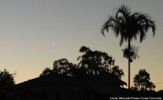 UFO, AKA 'Bright Comet-Like Object', Spotted Over Hervey Bay, Queensland, Australia