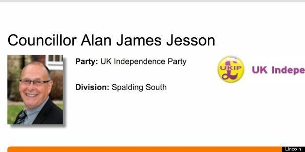 Alan Jesson, was voted in as councillor for Spalding