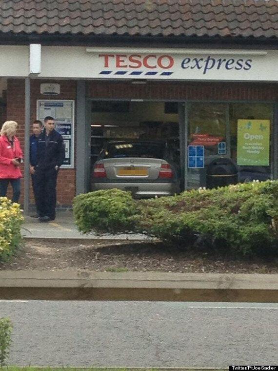 Suffolk Mayor Terry Buckle Accidentally Drives Car Into Tesco