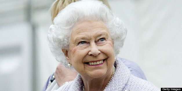Britain's Queen Elizabeth II vists the Chelsea Flower Show in London on May 20, 2013. The world-famous...