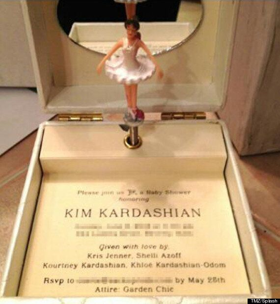 Kim Kardashian's Baby Shower Invite Is The Most Over The Top, Ridiculous Thing Ever