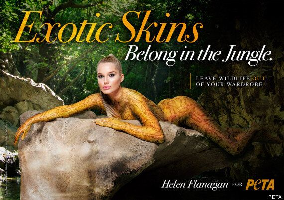 Helen Flanagan Naked: Star Strips For Ssssexy PETA Exotic Skin Campaign