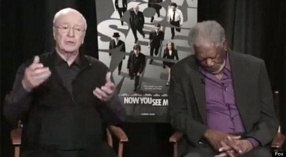 Morgan Freeman Falls Asleep During TV Interview