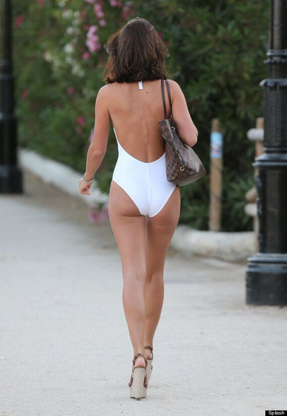 TOWIE's Lucy Mecklenburgh Wins Marbella Bikini Battle In Stunning White One Piece
