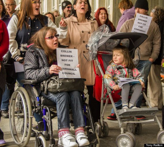 Cornwall Activists Protest Collin Brewer's 'Disabled Children Should Be Put Down' Remarks