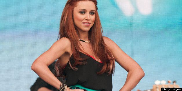 LONDONDERRY, UNITED KINGDOM - MAY 25: Una Healy of The Saturdays performs on stage on Day 2 of Radio...