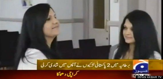 Pakistani Muslim Lesbians Marry In UK In First Civil Partnership Of Its