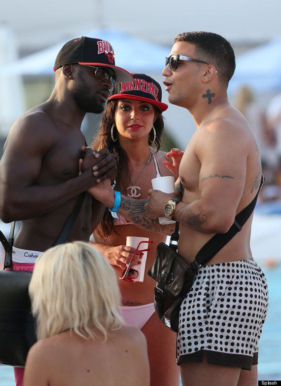 Tulisa Reveals 'Lucky You' Tattoo On Holiday In Marbella After Split From Danny