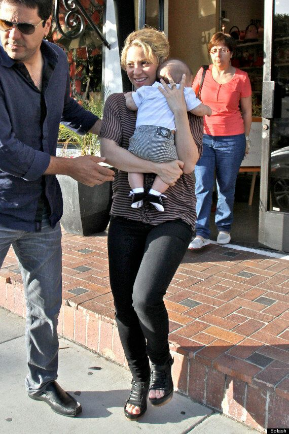 Shakira Steps Out With Baby Son As She Promises To Breast Feed Him Until College