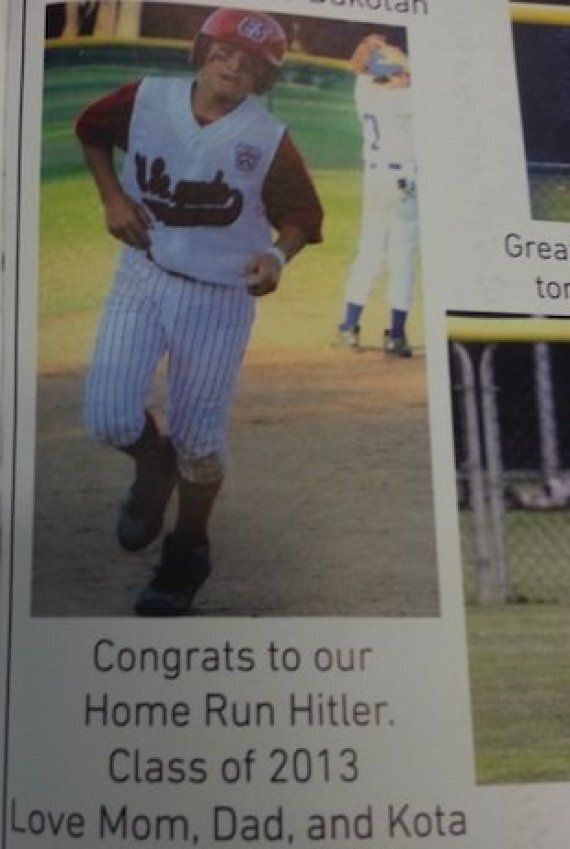 Little League Baseball Player Named 'Home Run Hitler' In Yearbook