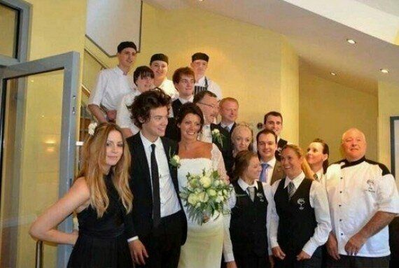 Harry Styles Is All Smiles As Best Man At His Mum Anne Cox's Wedding