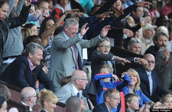 Sir Alex Ferguson Watches Manchester United-Real Madrid Legends' Match