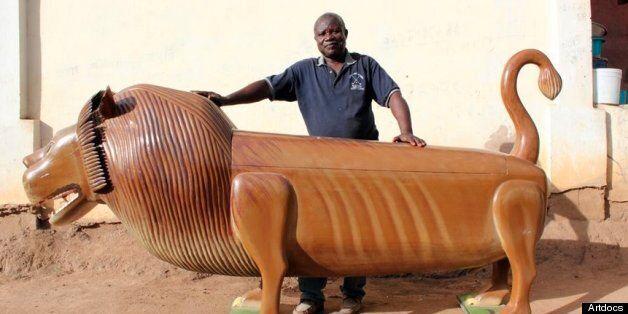 Paa Joe and his trademark lion