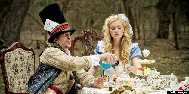Mad Hatter and Alice in