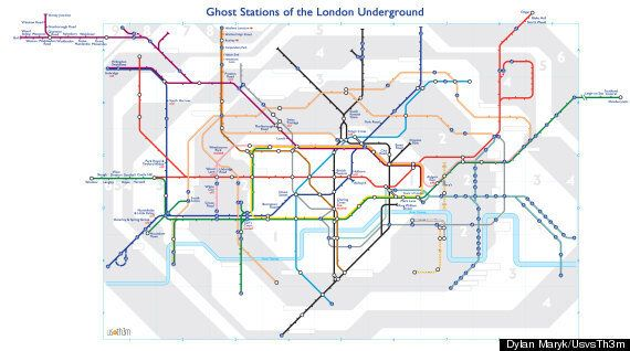 London Tube Ghost Station Map Shows All The Spooky Stops You Can't Go To