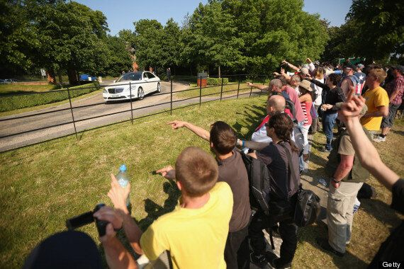 Cameron's Attendance At Bilderberg Group Is 'Conflict Of Interest', Say Protesters (PICTURES,