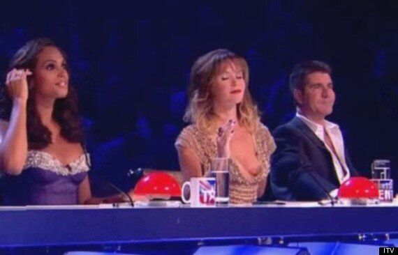 'Britain's Got Talent': Amanda Holden Suffers Nip Slip Wardrobe Malfunction During Live