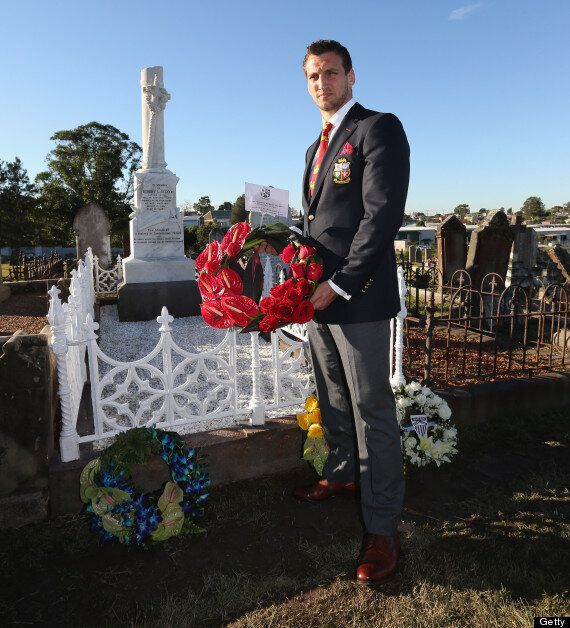 Sam Warburton Visits First Lions Captain Robert Seddon's Grave