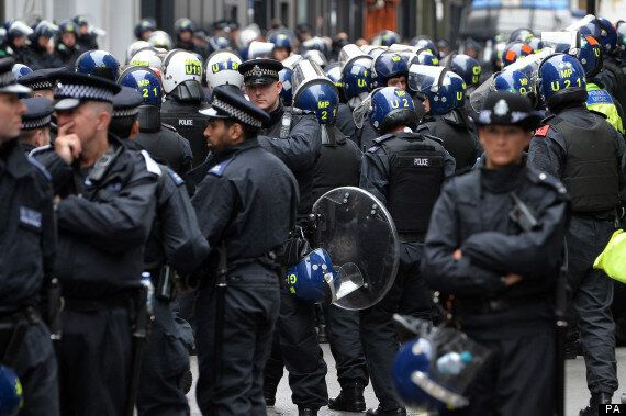 G8 Protests: Riot Police Line London's West End As Group Occupy Abandoned