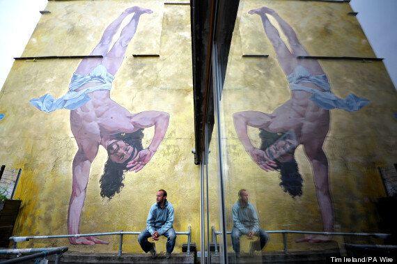 Massive Breakdancing Jesus Mural Unveiled In Bristol