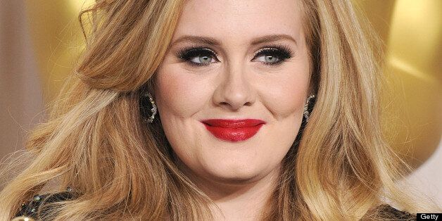 HOLLYWOOD, CA - FEBRUARY 24: Adele poses at the 85th Annual Academy Awards at Dolby Theatre on February...