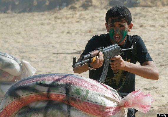 Gaza Children Play 'Kidnap The Soldier' At Military Summer Camp