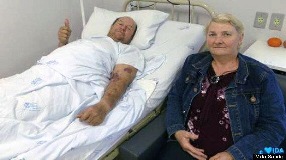 Gregory Steinmedc, Farmer Survives After Angle Grinder Embeds In His Stomach (GRAPHIC