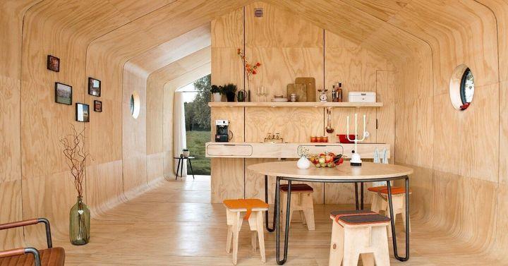 ダンボールの家・Wikkelhouse(ウィッケルハウス)の内装1
