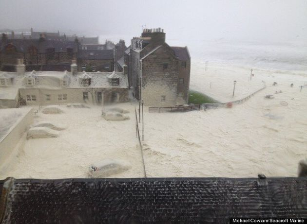 UK Weather: Foam Engulfs Aberdeen Village As Floods Sweep Britain