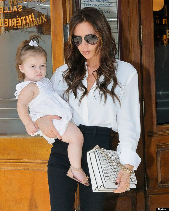Harper Beckham Perfects Her Best Posh Pout As She Lunches With Mum Victoria
